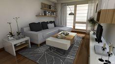 salon rectangular dos ambientes - Buscar con Google