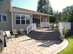 Deck and patio. Another option.: