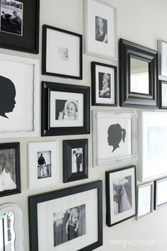 Crazy Wonderful Black And White Photo Mixed Frame Gallery Wall