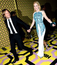 Nicole Kidman and husband Keith Urban left HBO's annual Emmy Awards Post Awards Reception early walking hand-in-hand.