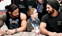 Roman Reigns and seth rollins Seth Rollins Shirt, Roman Reigns Tattoo, Roman Regins, Wwe Superstar Roman Reigns, The Shield Wwe, Wwe World, Thing 1, Royal Rumble, Total Divas