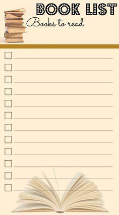 Buchliste - Filofax - Personal -Love - Inserts - To-Do - Lists To Do Planner, Agenda Planner, Planner Pages, Life Planner, Printable Planner, Planner Stickers, Printable Scrapbook Paper, Free Printable, Filofax Personal