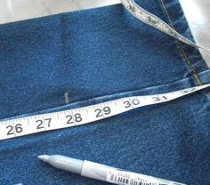 Picture of Measuring  I need to do several pairs of jeans so just refreshing my memory.