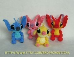 STITCH and the GANG PDF amigurumi crochet pattern by Chonticha, $8.50