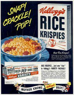 Rice Krispies ad, 1949, via Flickr.