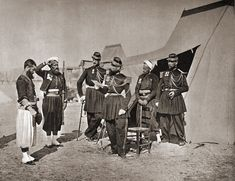 Crimean War, December - French Zouaves, officers and one privates, in Camp Siege of Sevastopol during a punishment Boxers, Victorian History, Crimean War, French Army, Ottoman Empire, France, Photo Reference, Armed Forces, Napoleon