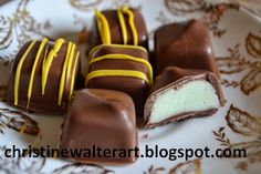 Artwork, Writings and Recipes of Christine Walter: How to Make Chocolate Candies- Cream Filled Chocolate Recipe