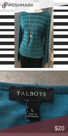 Two Toned Turquoise Top from Talbots Two Toned Turquoise Top from Talbots Talbots Tops Tees - Long Sleeve