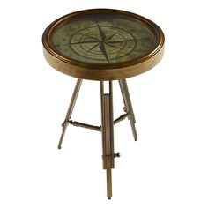 """Powell Furniture Compass End Table 17"""" $93"""