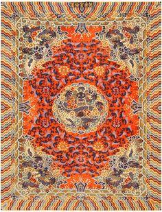 Antique Chinese Metallic Silk Rug 48129 Main Image - By Nazmiyal
