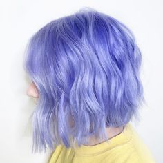 Most Popular Blue Hair Color Highlights for Ladies Adorable Blue Hair Color Shades & Look for Medium Hair - Unique World Of Hairs Periwinkle Hair, Hair Color Purple, Hair Dye Colors, Cool Hair Color, Purple Bob, Short Purple Hair, Short Hair, Short Pastel Hair, Purple Style