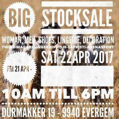 Outletverkoop van kleding, schoenen, lingerie en deco -- Evergem -- 21/04-22/04
