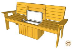 A bench. A cooler. Put them together and what do you get? The most amazing Cooler Bench you've ever seen. Check out these free DIY-friendly plans.