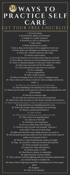 Get the FREE self-care checklist here! Having a hard time figuring out how to practice self-care?- Now all you have to do is make time for yourself. Check off each activity as you complete it!   Go to TheTruthPractice.com to find out more about inspiration, authenticity, happy life, fulfillment, manifest your dreams, get rid of fear, intuition, decompress, self-love, self-care, words of wisdom, relationships, affirmations, live a life you love, feminism, positive quotes, life lessons…