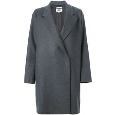 Mm6 Maison Margiela double breasted overcoat (€590) ❤ liked on Polyvore featuring outerwear, coats, jackets, grey, double breasted overcoat, mm6 maison margiela, double-breasted coat, wool blend coat and grey coat