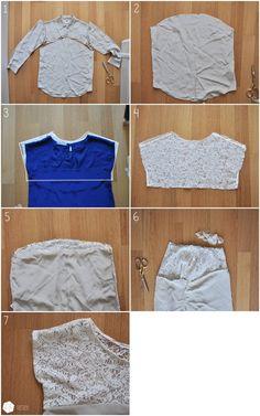 Camisa Rehacer (DIY) / Camisas / ropa con estilo de moda y alteraciones interiores