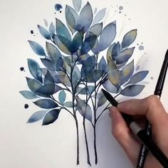 Since we've been the go-to site for watercolor techniques, watercolor painting ideas & watercolor tutorials. Learn how to paint! Watercolor Illustration, Watercolour Painting, Watercolor Flowers, Painting & Drawing, Drawing Flowers, Pattern Illustration, Watercolors, Watercolour Tutorials, Watercolor Techniques