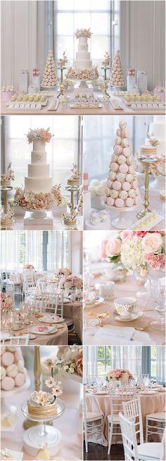 Photo: Mango Studios; pink wedding reception idea