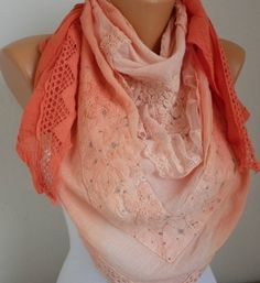 Lace Scarf   scarf shawl     Free scarf  fatwoman by anils on Etsy,