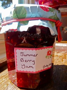 My bountiful allotment berry jam, very popular
