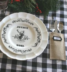 Joyeux Noel. A little French accent for my Christmas table!