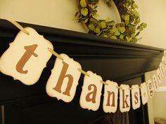 thanksgiving decorations sign banner hostess gift by bekahjennings, $19.00