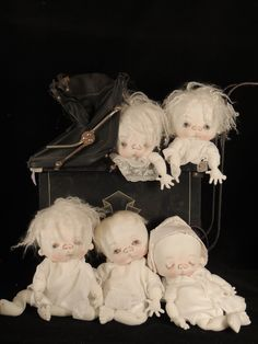 """MY LITTLE GHOSTIE   13"""" GHOST BABIES by doll artist   Jan Shackelford   Visit my website at   www.janshackelfor...   To be on my mailing list for all new creations email to:   mailto:janshackel..."""