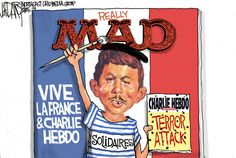 Charlie Hebdo terror attack draws defiance: Editorial cartoon