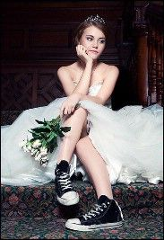 "Wearing Converse with your wedding dress does not make you a ""punk rock princess."" A real punk rocker wouldn't wear a wedding dress at all."
