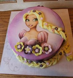 Tangeled cake i made!:) just for fun #cake #tangeled #cake