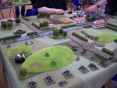 Northern Europe table from the FOW Sxottish Nationals May 2013.