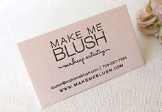 Letterpress Printed Business Cards on Blush Pink paper, Calling Card, Custom, Calligraphy, Simple Business Cards, Custom Business Cards, Business Card Design, Letterpress Business Cards, Letterpress Printing, Buissness Cards, Graphic Design Fonts, Name Card Design, Makeup Artist Business Cards