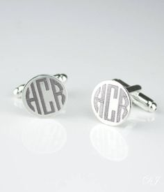 https://www.etsy.com/listing/520708740/?utm_content=buffer6358f&utm_medium=social&utm_source=pinterest.com&utm_campaign=buffer Fathers day gift from wife, Monogrammed Round Cufflinks Groomsmen Gifts Engraved Cufflinks Personalized Gifts for Him Personalized Cufflinks #daniquejewelry