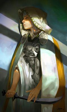 female warrior rogue