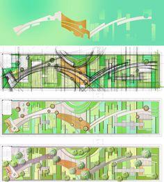 Roof garden landscape design ( Arch. M_Oplado 2017/ Metrostudio)