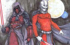 Darth Revan Darth Malak Star Wars KOTOR by ChrisOzFulton.deviantart.com on @deviantART