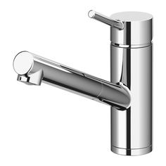 YTTRAN Kitchen mixer tap w pull-out spout, chrome-plated chrome-plated -
