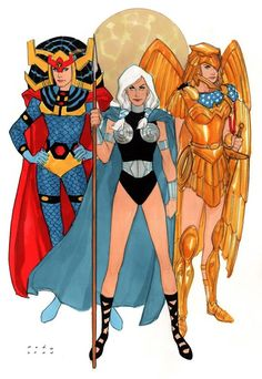 Big Barda, Valkyrie, & Hippolyta by Phil Noto