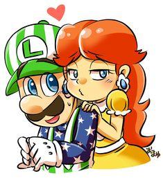 Mario Fan Art, Mario Bros., Mario And Luigi, Mundo Super Mario, Super Mario Art, Princesa Daisy, Luigi And Daisy, Memes, Games To Play