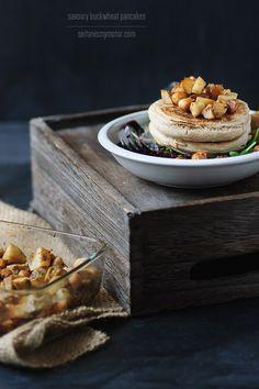 Savory Buckwheat Pancakes with Sunchokes