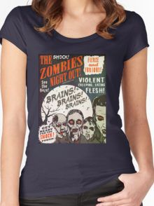 The Zombies Night Out! T-shirt Femme moulant à col profond