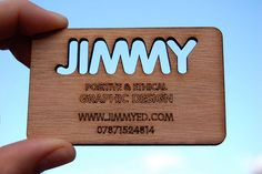 Wooden Business Cards so cool, and would last! and show people how inventive, green, and creative you are