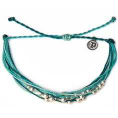 Pura Vida - Platinum Pearls Bracelet | Aqua from The Girl & The Water. Saved to Summer.