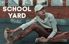 SCHOOL YARD webitorial for iMute Magazine Photographer / Maja Johansson Model / Stella R @ Mikas Stylist / Martina Axtelius Make up & Hair / Mirja Andersson