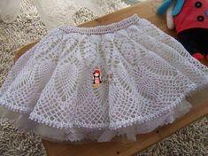 Delicadezas en crochet Gabriela: Falda corta delicada y con viso