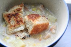 Creamy Chicken and Corn Chowder; Original Recipe from Rachael Ray