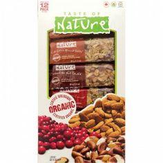 Taste of Nature Organic Food Bar 12/40g