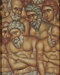 The Forty Martyrs of Sebastia (detail) by Fotios Kontuglou. Classical Period, Classical Art, Religious Icons, Religious Art, Art Through The Ages, Best Icons, Byzantine Art, Greek Art, Orthodox Icons