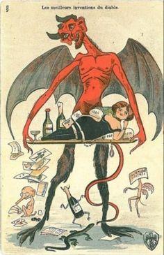 Les meilleurs inventions du diable. Postcard, France