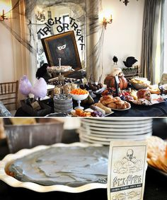 """""""CARNEVIL"""" – A Haunted Victorian Sideshow. Lots of great party food ideas here."""